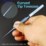 2UUL blueT Curved Head Titanium Alloy 0.1mm Blue Tweezer for Precise Wire Jump