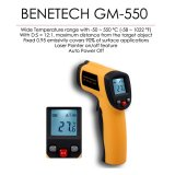BENETECH GM-550 12:1 Infrared Thermometer Laser IR Pyrometer -50~550°C -58~1022°F 0.95EM Celsius